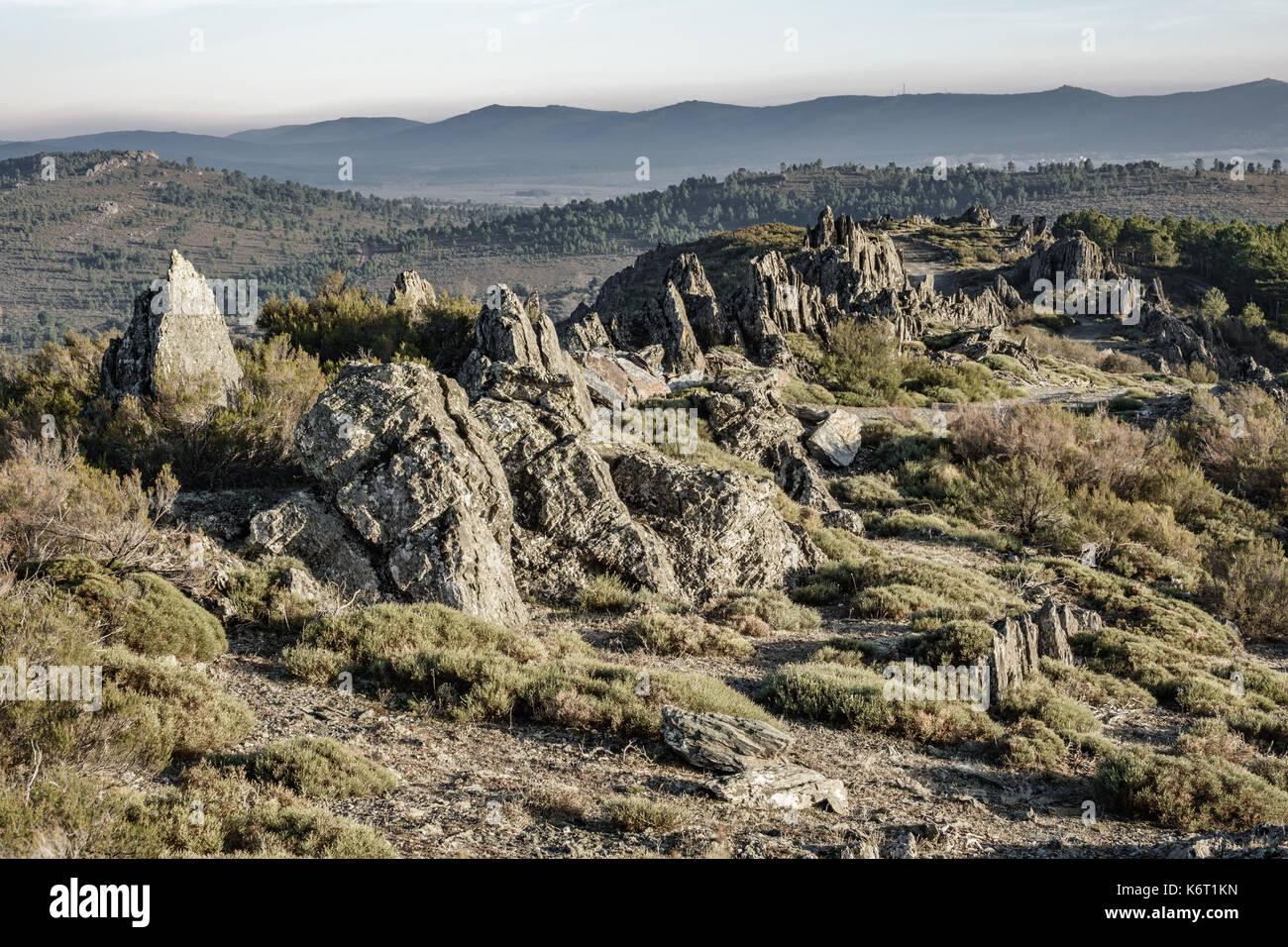 Nice track between rocks - Stock Image