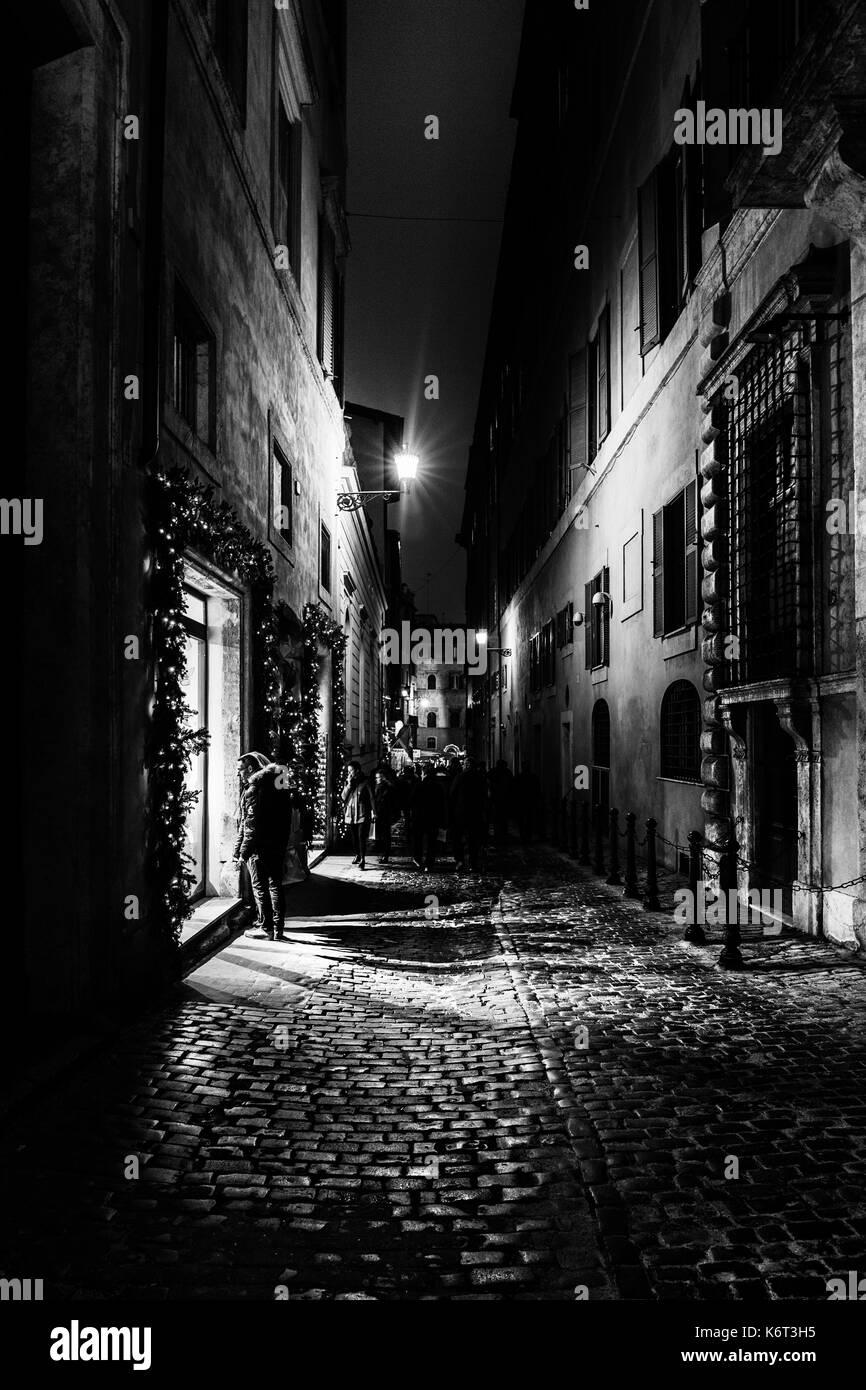 Night in Rome, Rome, Italy - Stock Image