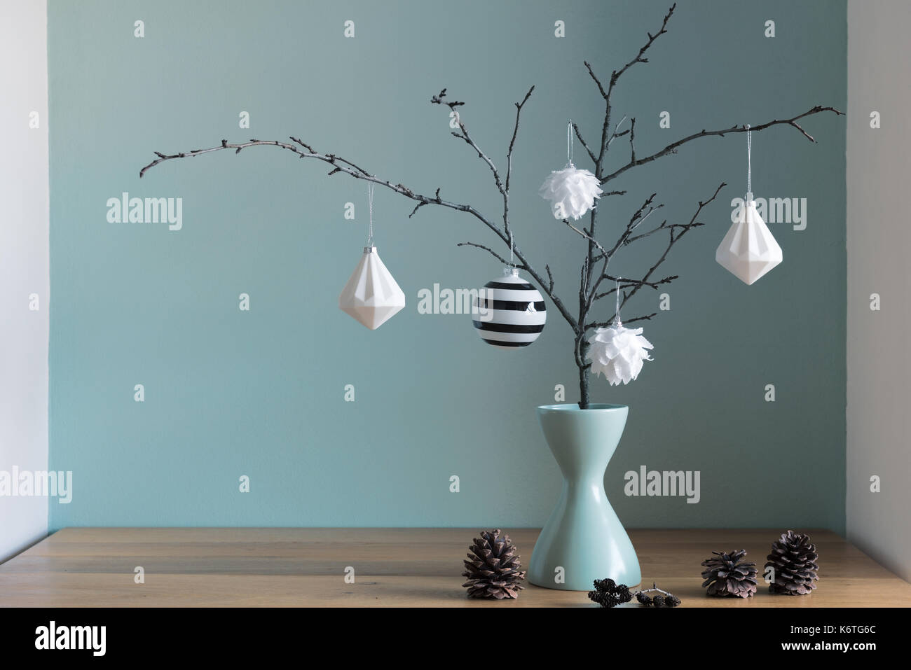 Modern and elegant simple nordic christmas decor in black and Stock ...