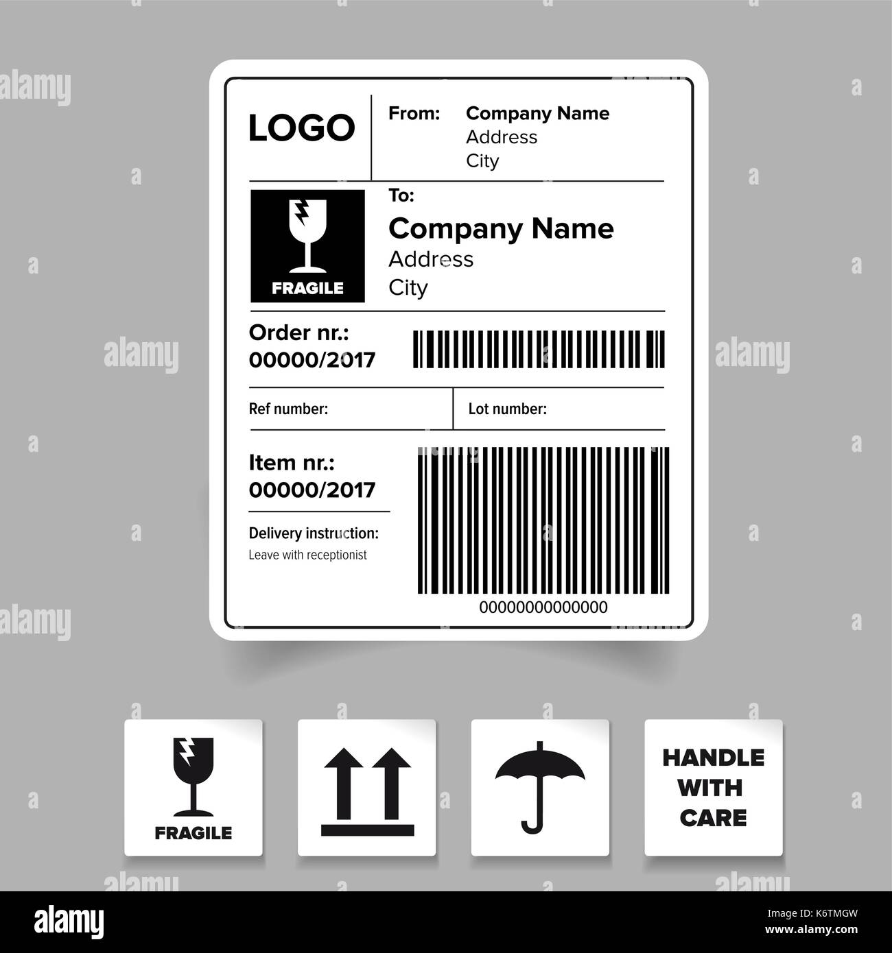Fragile Sticker Black And White Stock Photos Amp Images Alamy