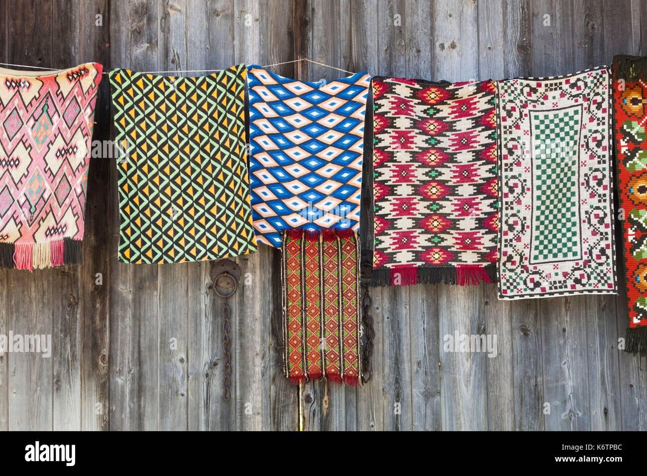 Bulgaria, Central Mountains, Veliko Tarnovo-area, Arbanasi, souvenir rugs Stock Photo