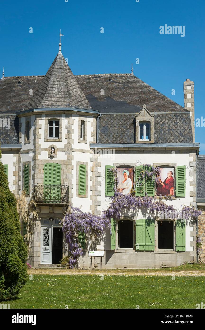 France, Finistre, Clohars-Fouesnant, the Manor of the Squividan - Stock Image