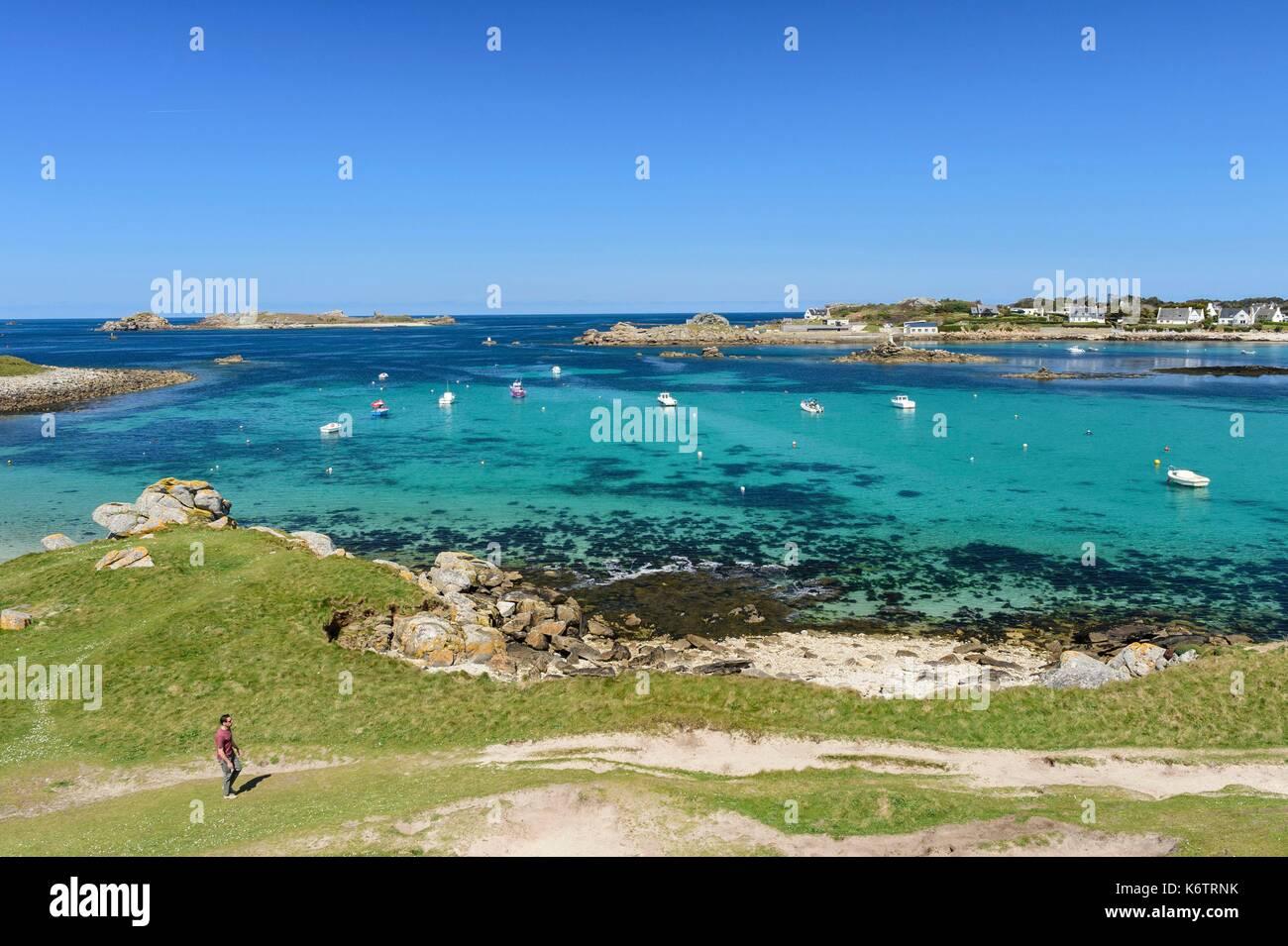 France, Finistre, Porspoder, Saint-Laurent peninsula - Stock Image