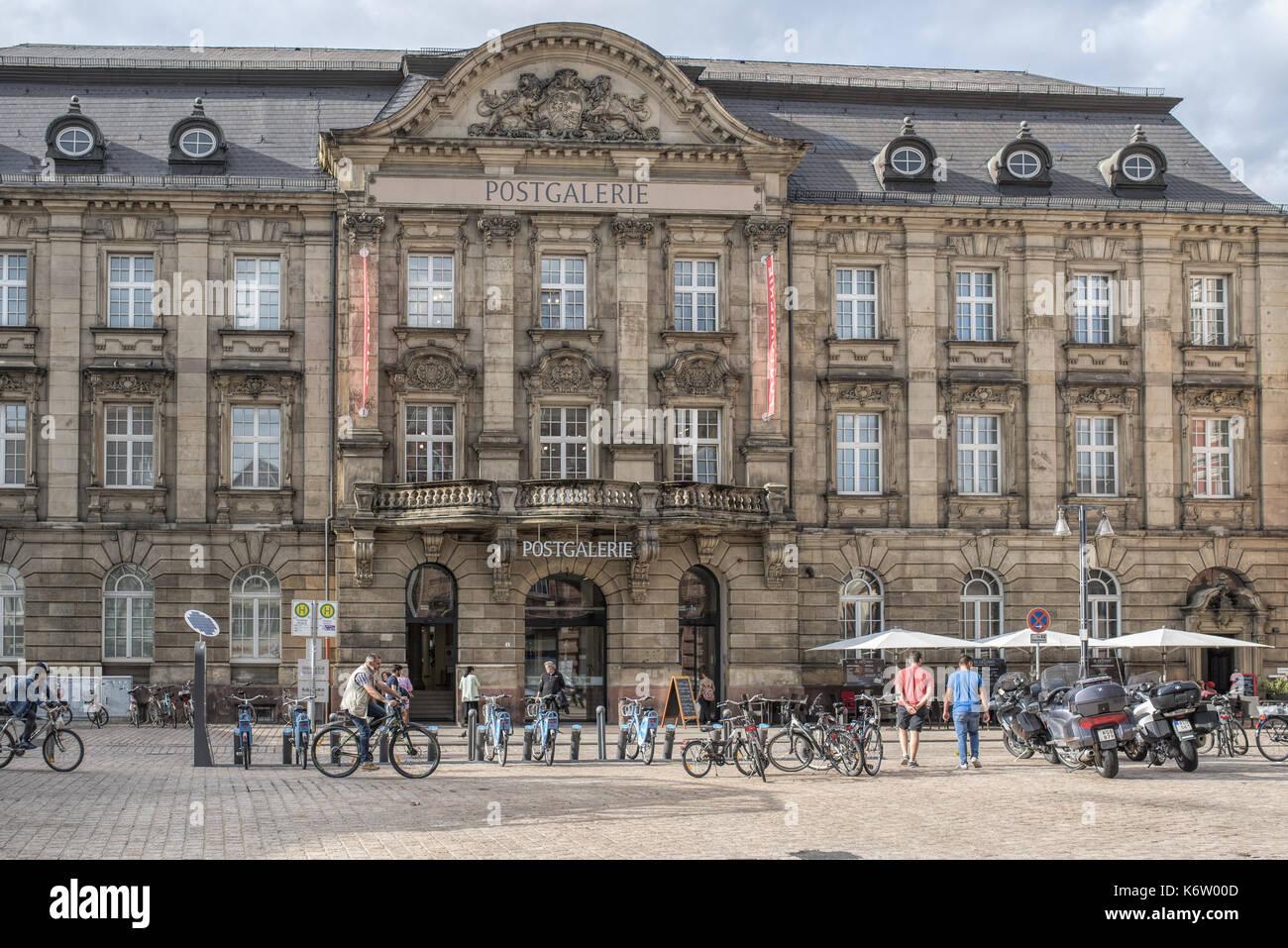 Speyer, GER, Rheinland-Pfalz - July 26, Aussenansicht der Postgalerie in Speyer, neben dem Altpörtel . - Stock Image