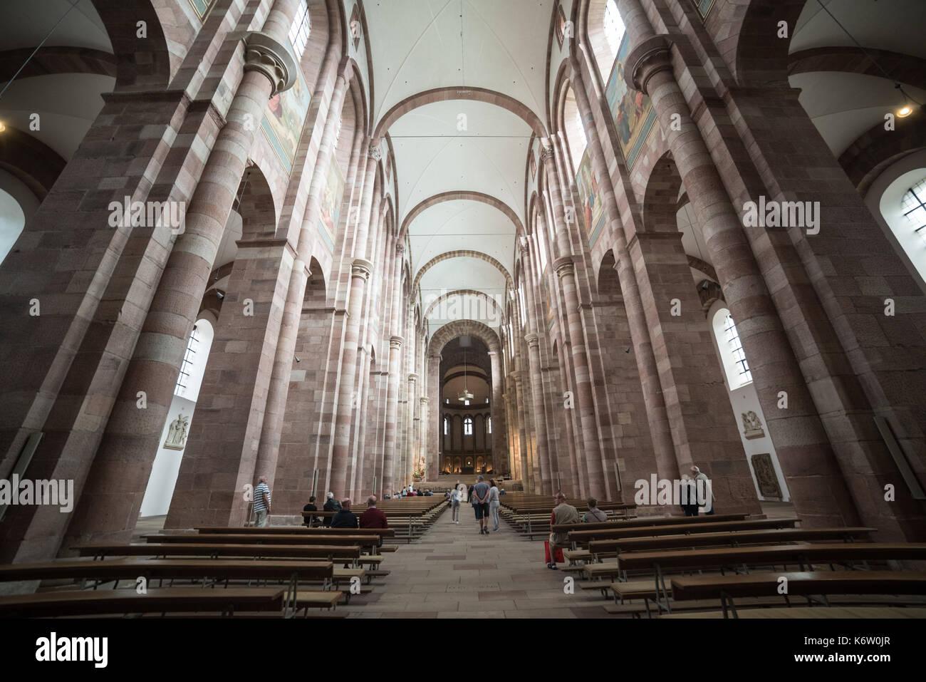 Reisen, Deutschland, Rheinland-Pfalz, Speyer, Innenstadt, September 04. Innenaufnahme - Stock Image