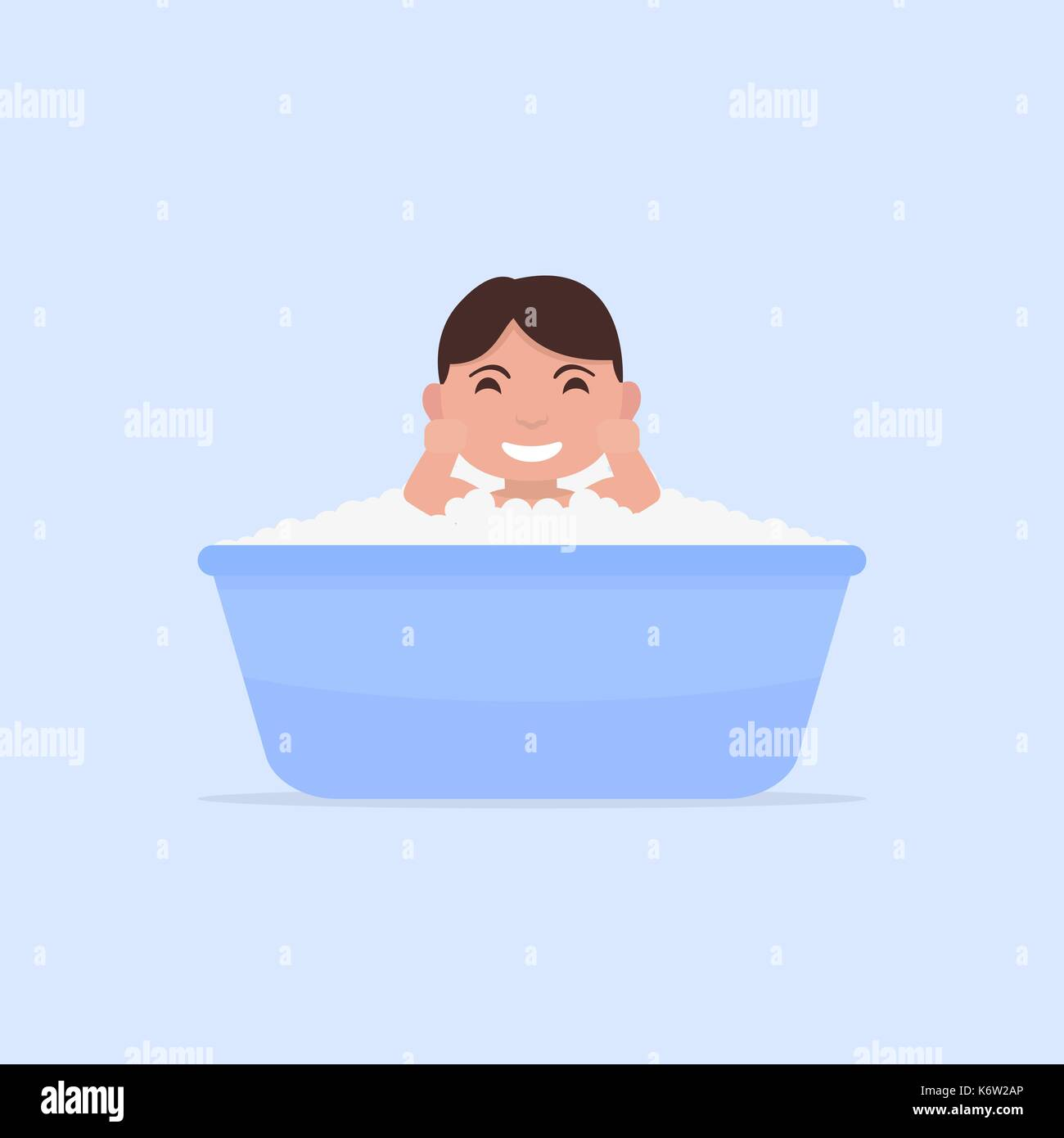 Bath Time Stock Vector Images - Alamy