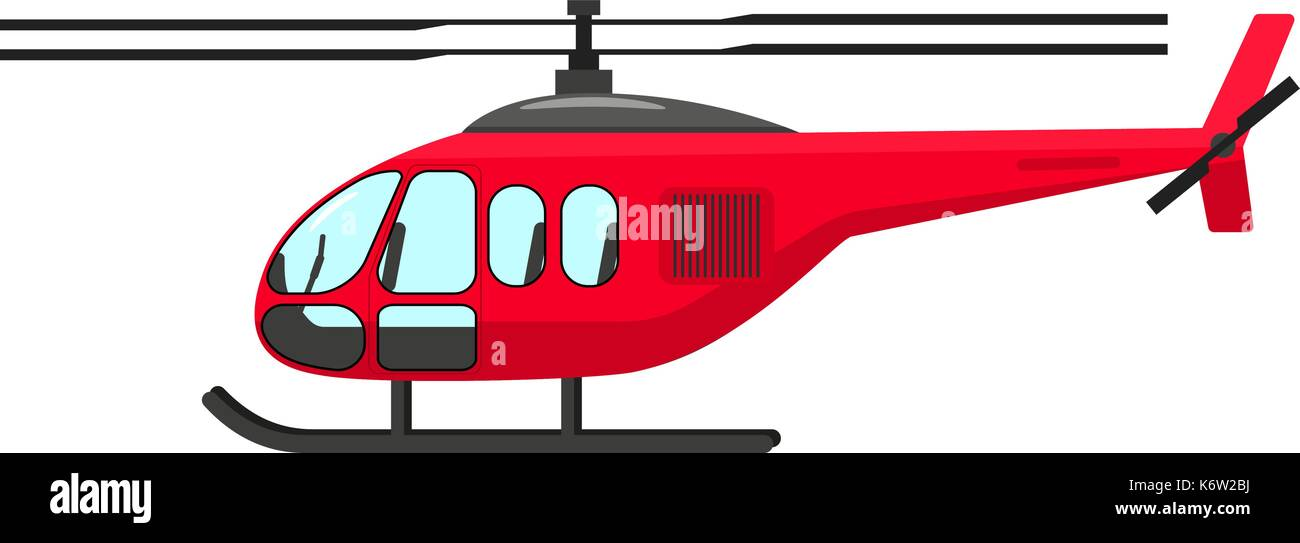 Vector illustration of a cartoon helicopter - Stock Vector