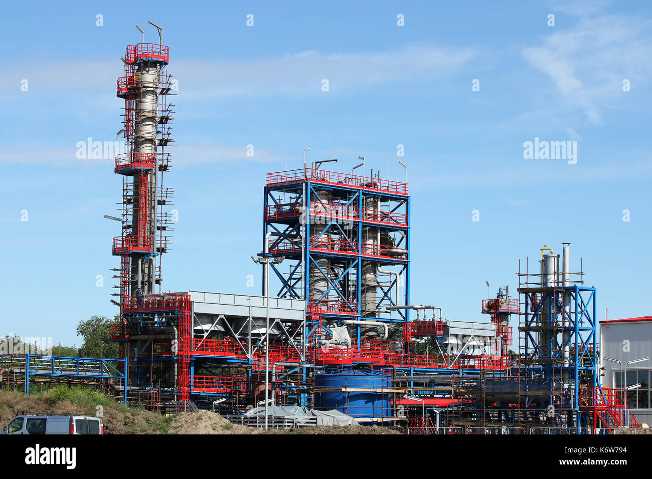 petrochemical plant oil industry construction site Stock