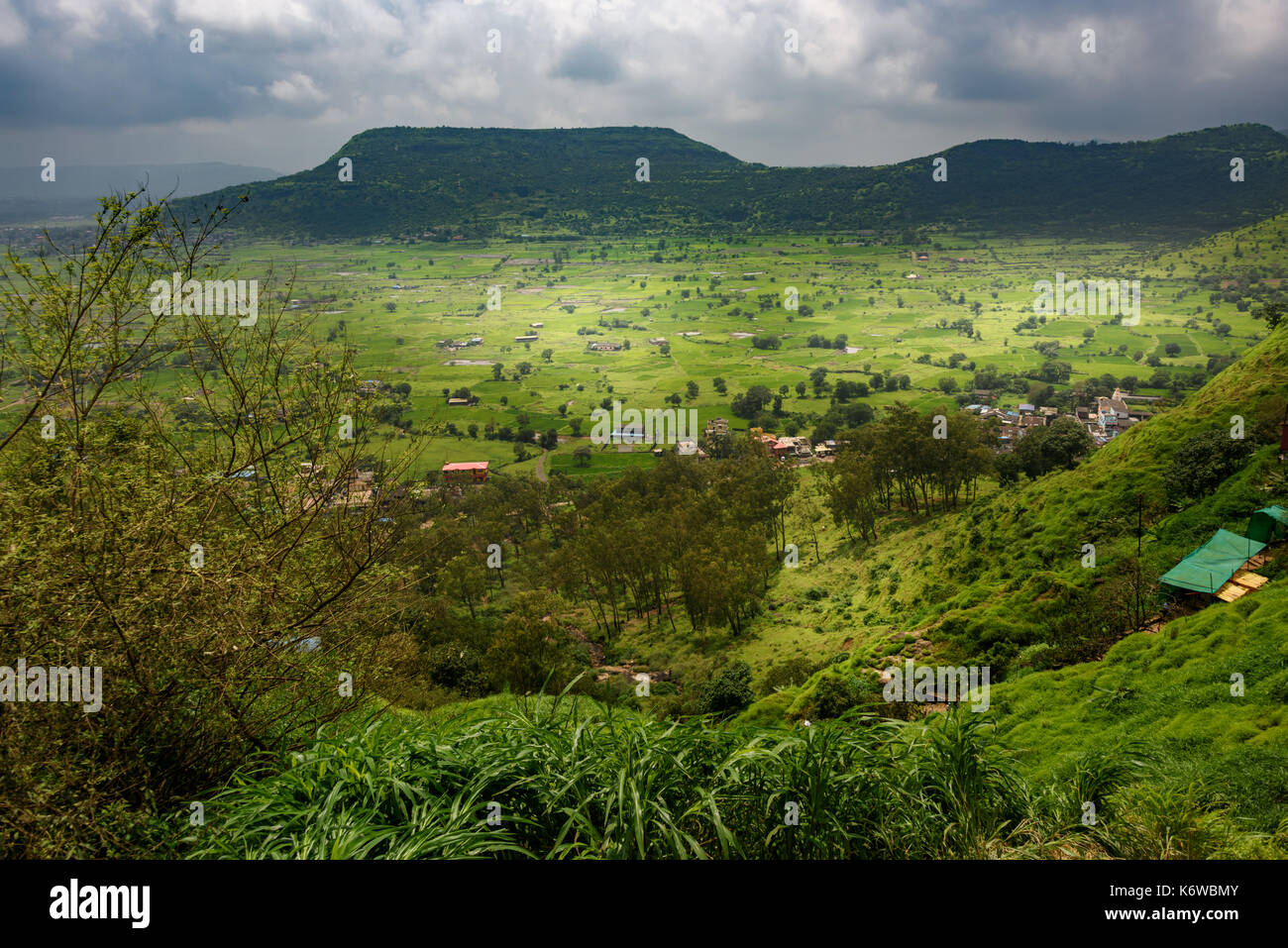Sahyadri Hills in Monsoon, Maharashtra, India - Stock Image
