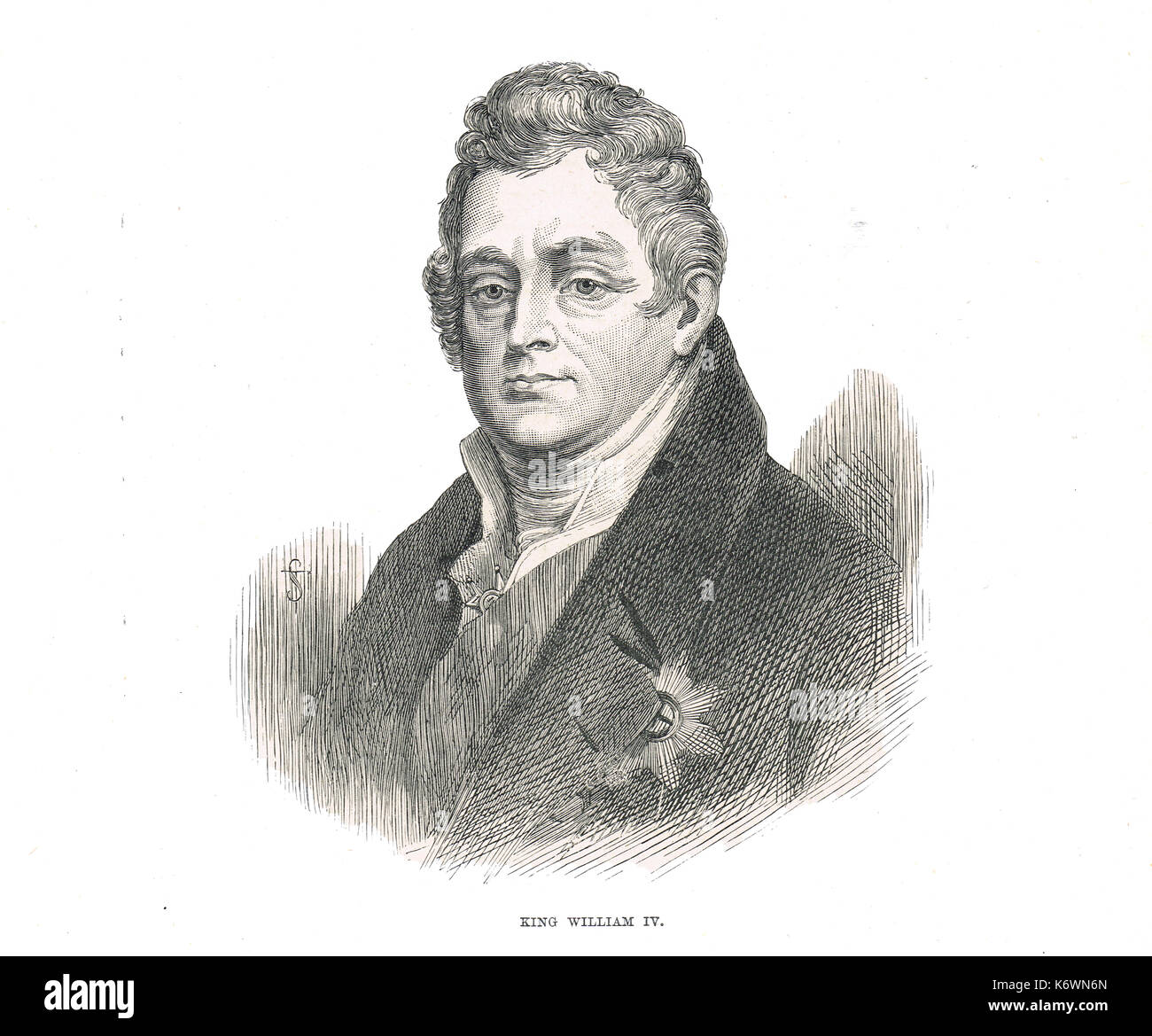 William IV King of the United Kingdom of Great Britain and Ireland, King of Hanover, 26 June 1830 – 20 June 1837 Stock Photo