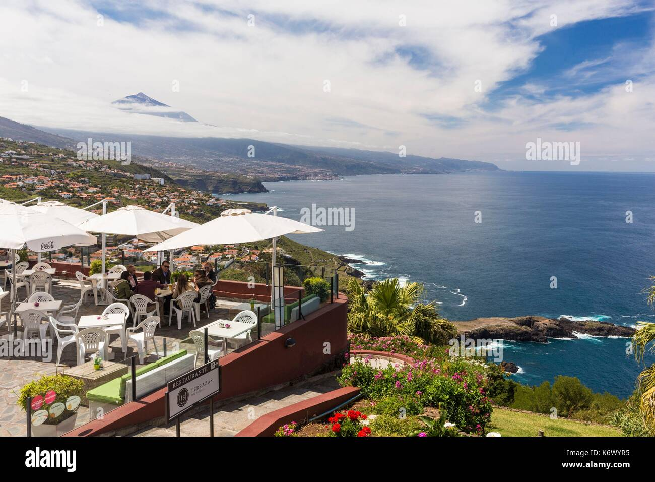 Spain Canary Islands Tenerife Island El Sauzal Terrace