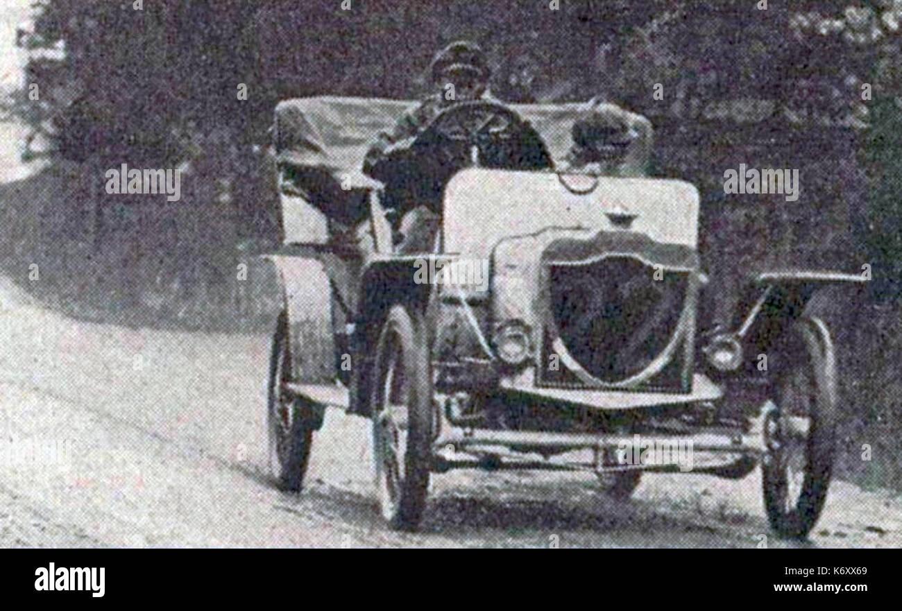 Ernest Curtis, sur Rover 20 hp, vainqueur du RAC Tourist Trophy 1907 - Stock Image