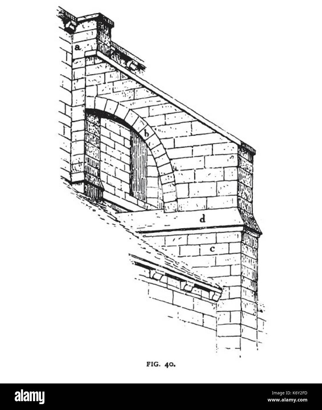 Fig 40  Flying Buttress of St. Martin of Laon Stock Photo