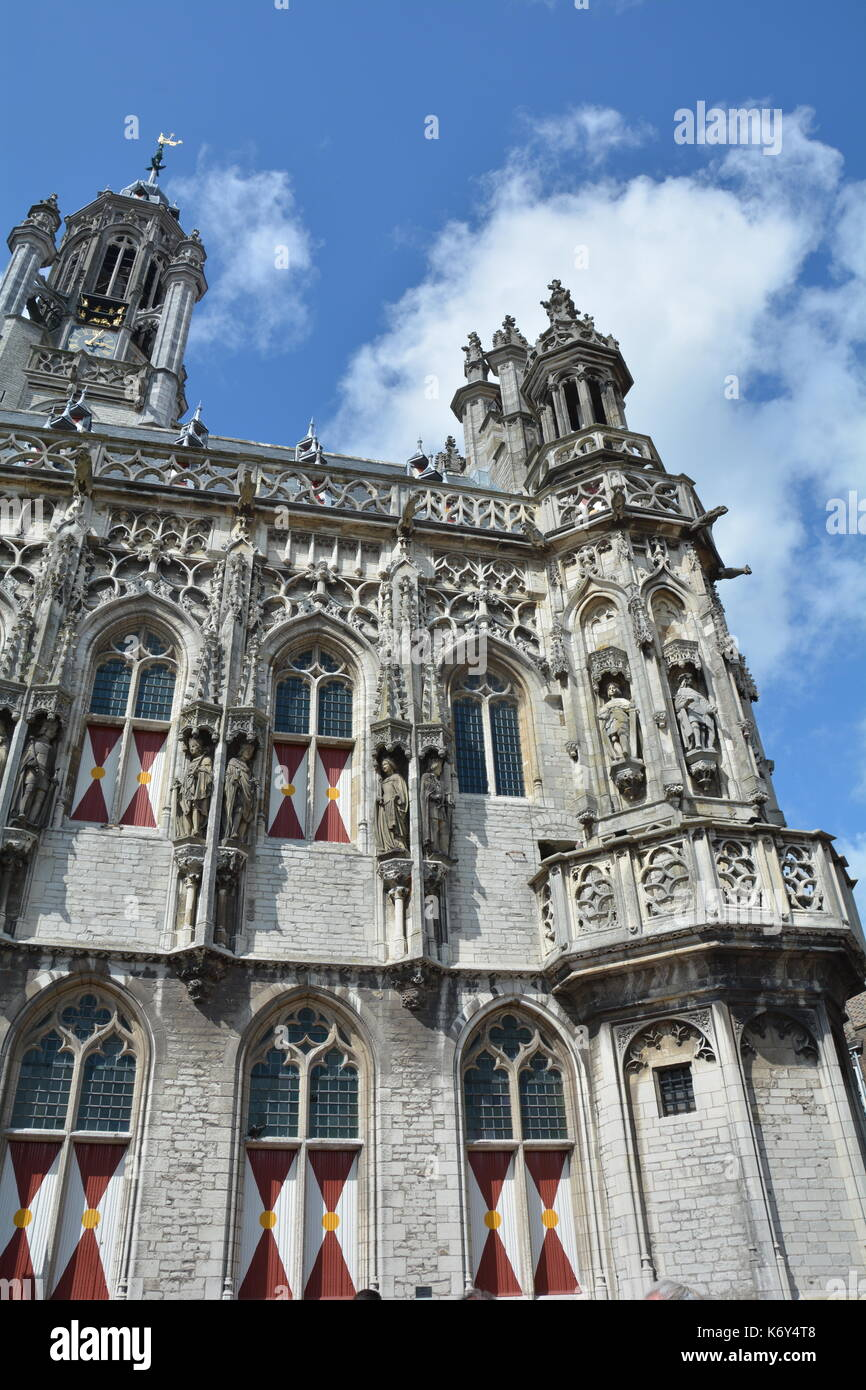 Stadhuis  Middelburg  - old city hall in the Netherlands Stock Photo