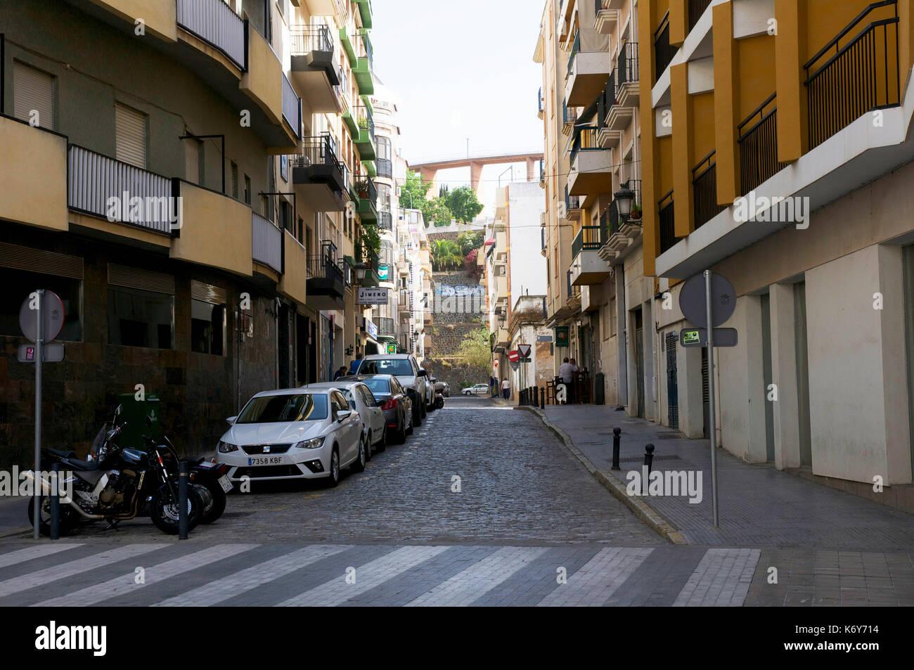 Calle Cardenal Cisneros, Huelva Stock Photo