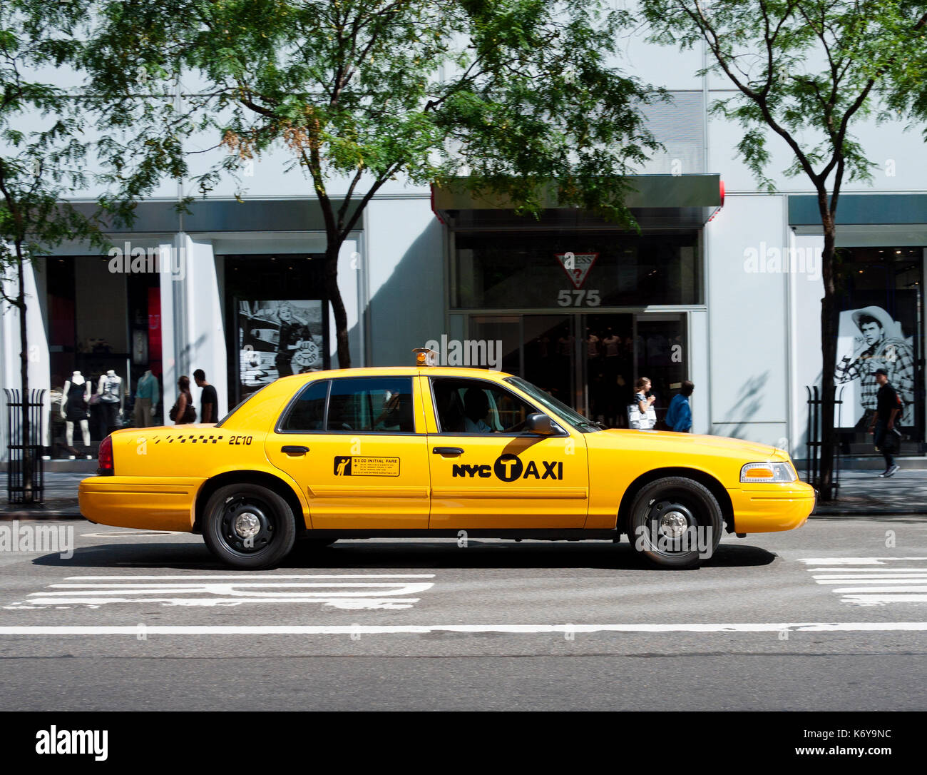 Yellow Taxi Cab Stock Photo