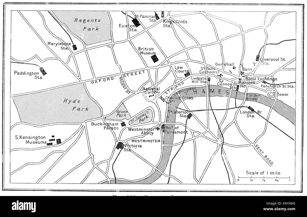 Basic Map Of London.Central London Map Stock Photos Central London Map Stock Images