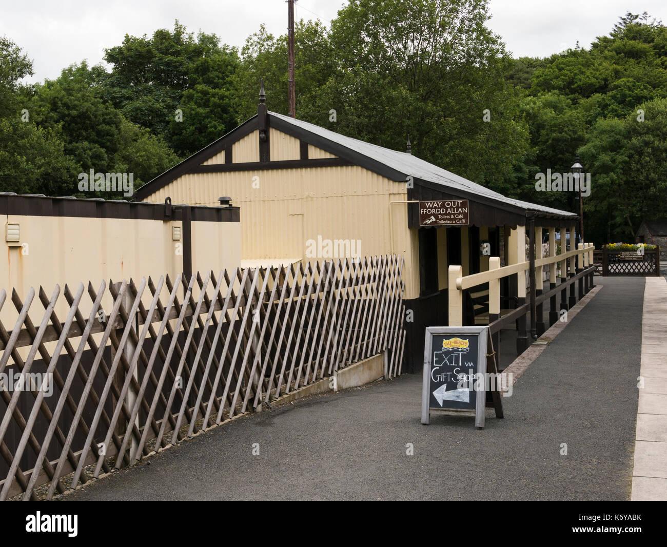 Devil's Bridge train station, Pontarfynach, Aberystwyth, Wales, UK. - Stock Image