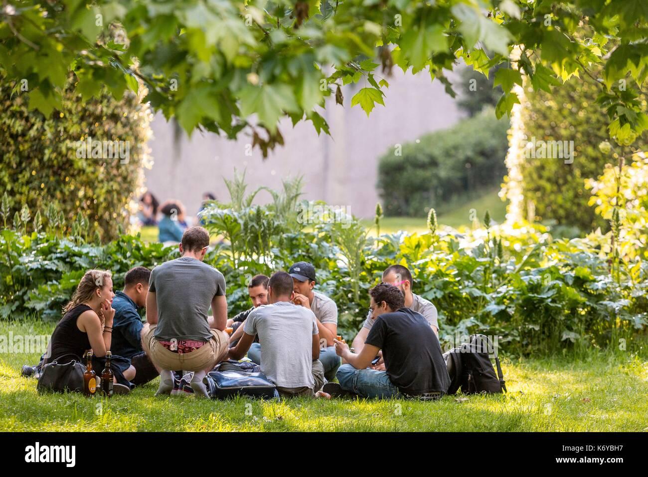 France, Paris, the Parc de Bercy - Stock Image