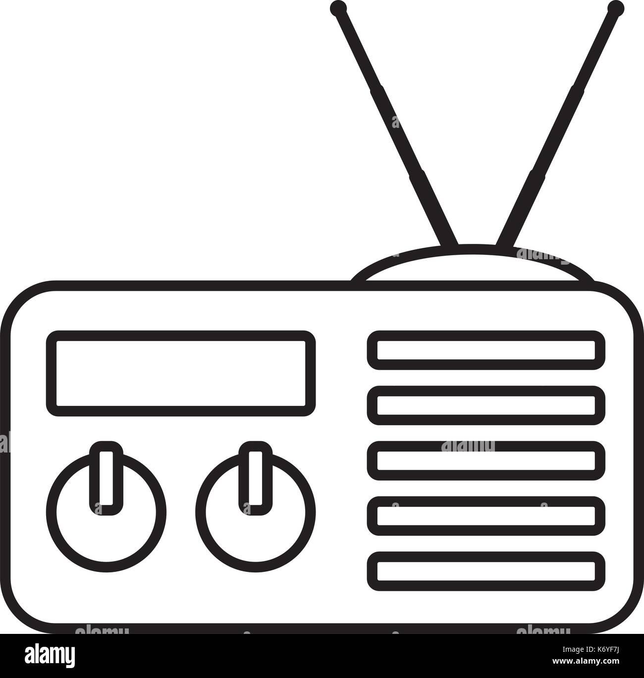radio stereo stock vector illustration vector