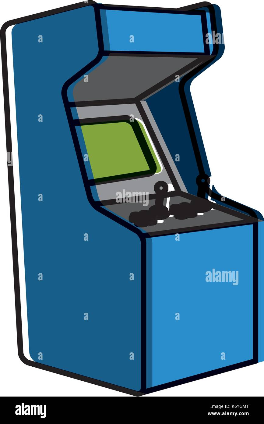 Arcade videogame isolated - Stock Vector