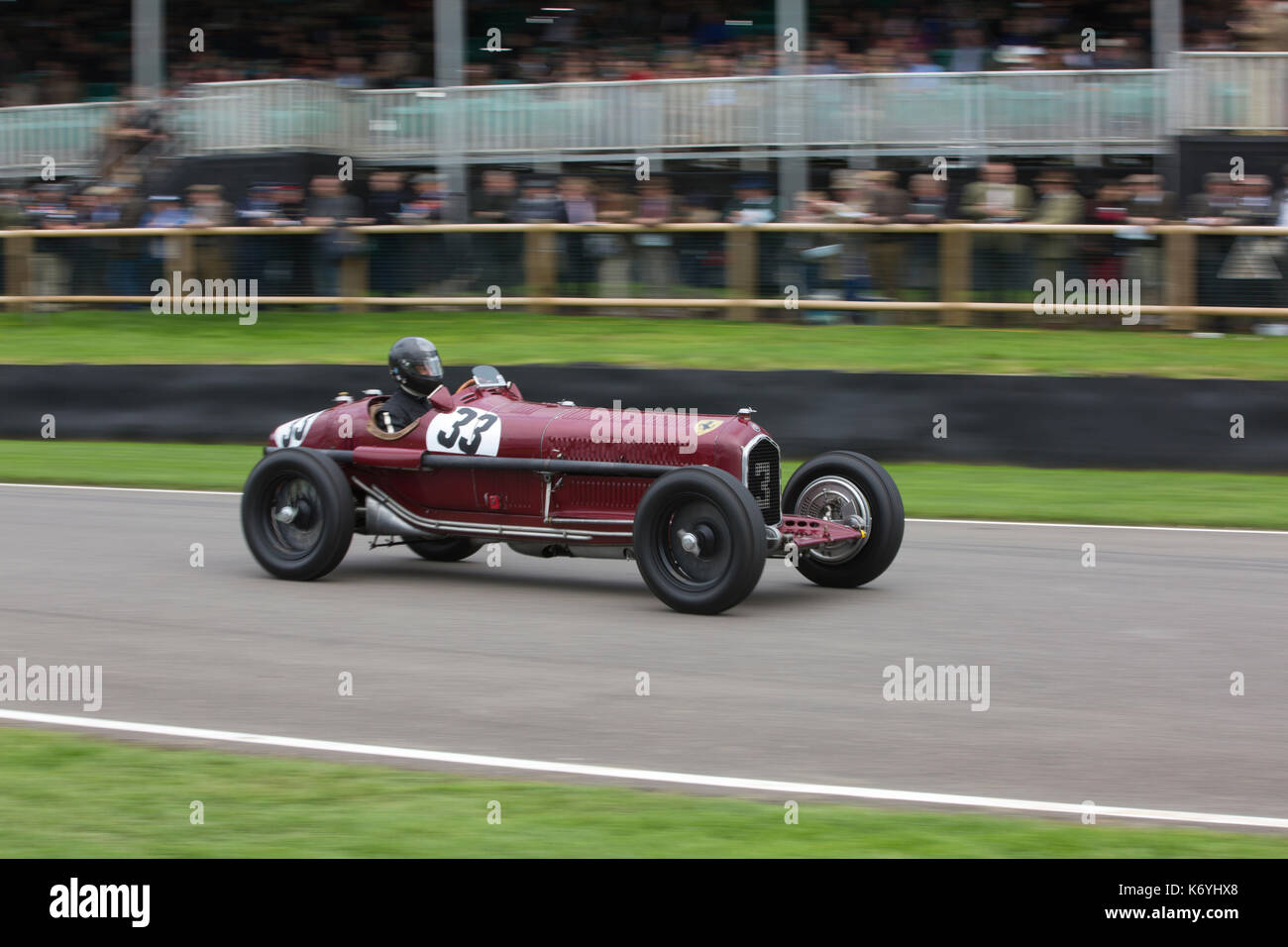 Goodwood Revival 2017 Meeting, Goodwood race track, organised by the British Automobile Racing Club, Chichester, Stock Photo