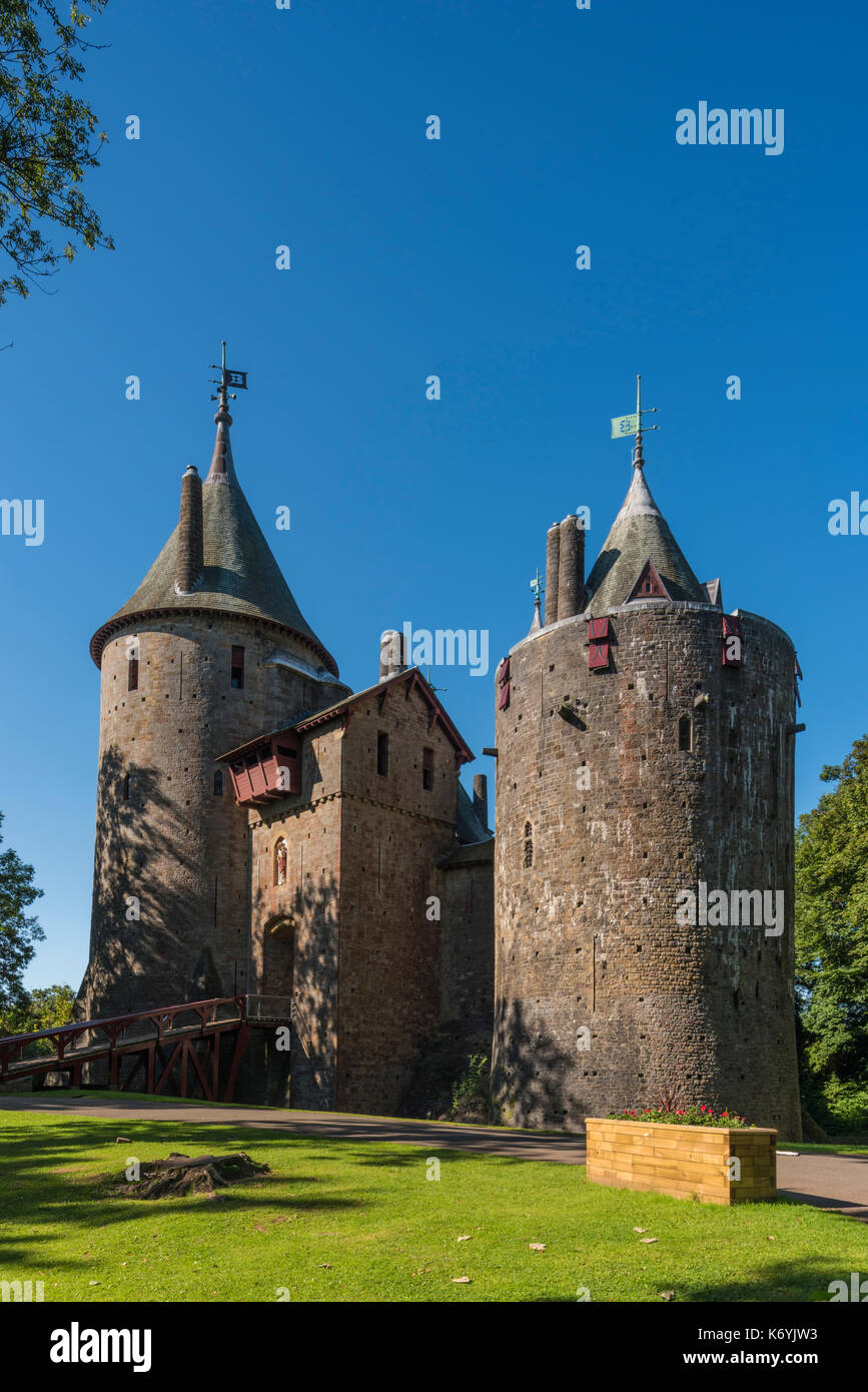 Castell Coch Welsh for Red Castle can be found on the outskirts of Cardiff in the county of South Glamorgan, Wales. PHILLIP ROBERTS - Stock Image