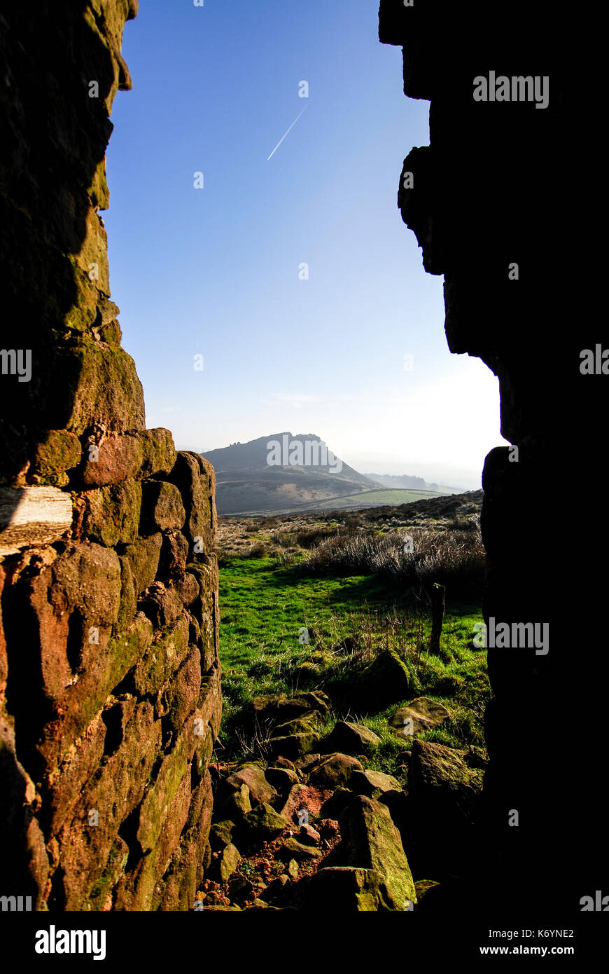 The Roaches, Abandoned House/Farm, Moorland, The Peak District National Park, UK - Stock Image