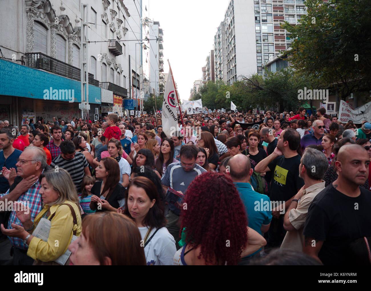 Cordoba, Argentina - March 24, 2016: Demonstrations on the Day of Remembrance for Truth and Justice (Día de la Memoria por la Verdad y la Justicia). - Stock Image