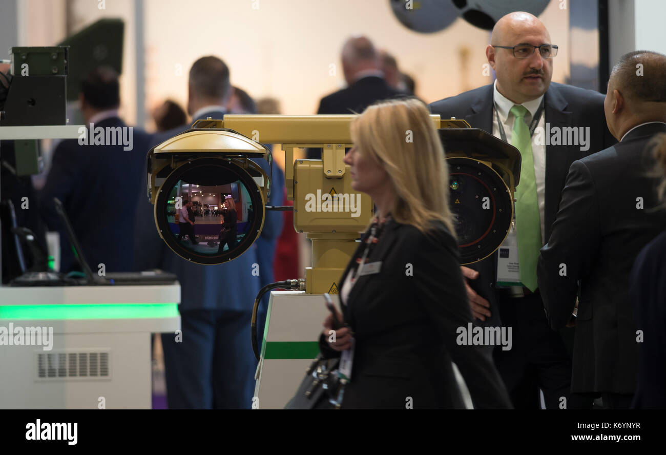 Defence and Security Equipment International, DSEI, the worlds leading global defence and security event at ExCel, London, September 2017 - Stock Image