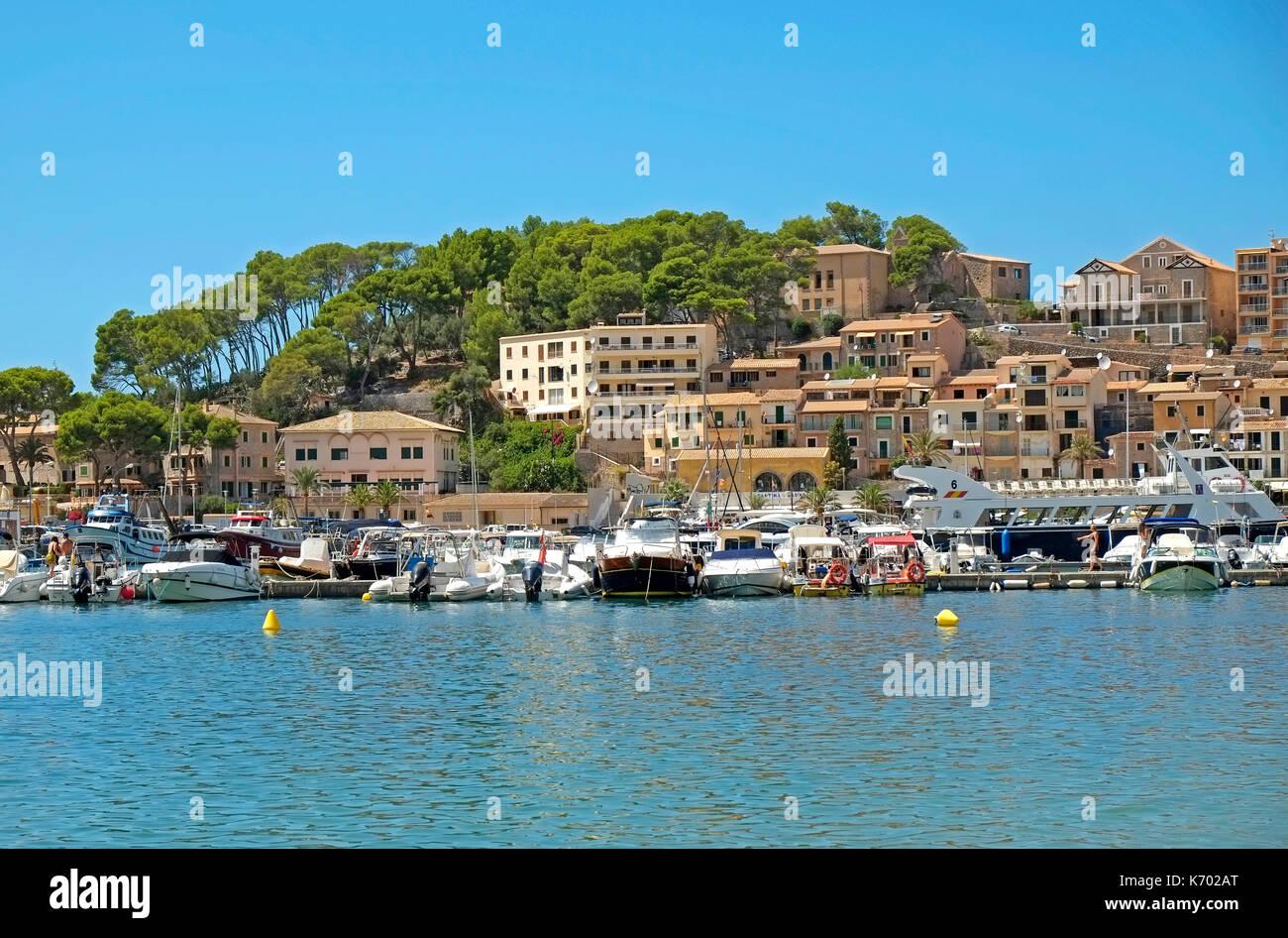Stoller Harbour Front Balearic Island Majorca Mallorca Spain Espana EU European Union Europe - Stock Image