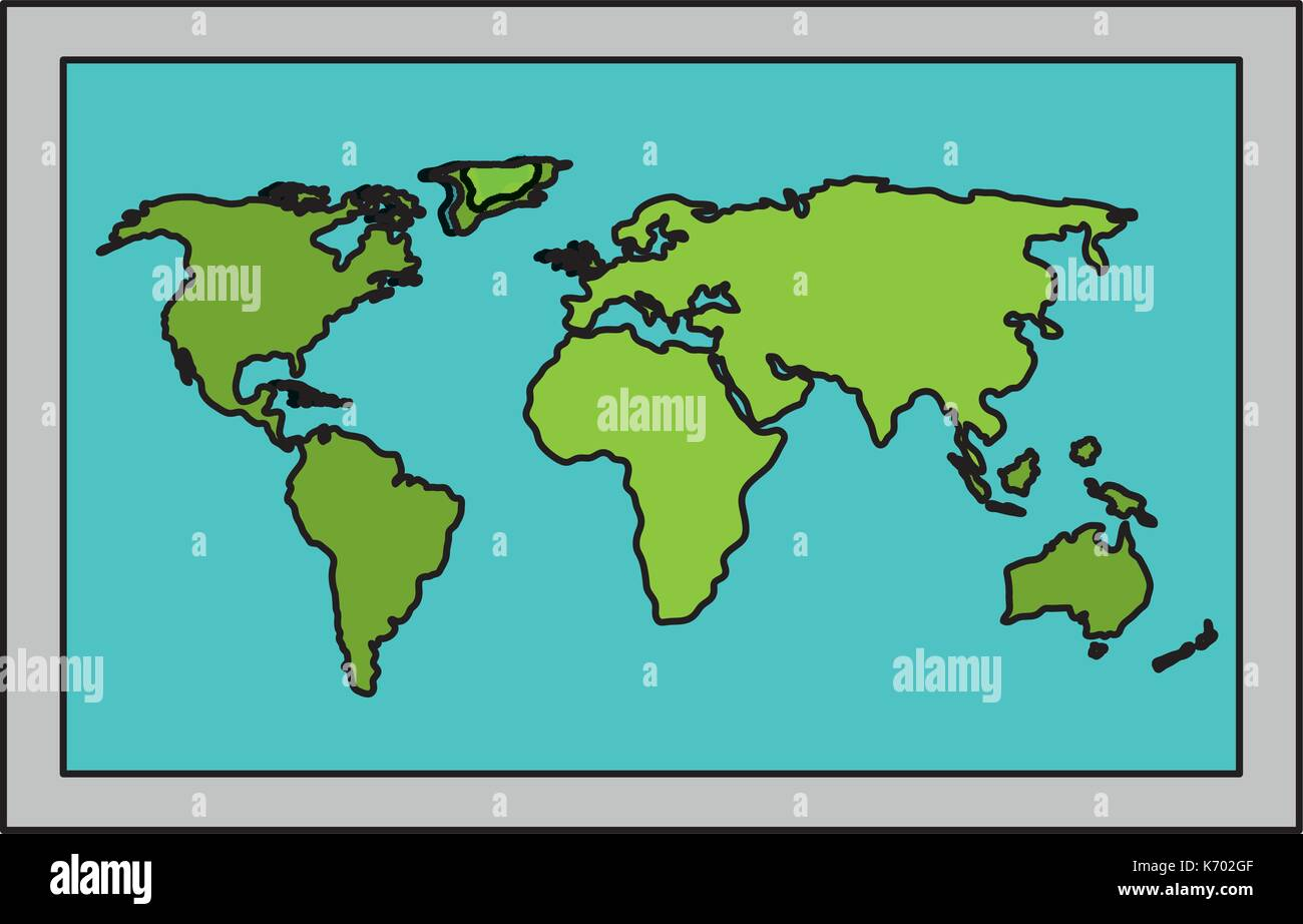 world paper map icon - Stock Image