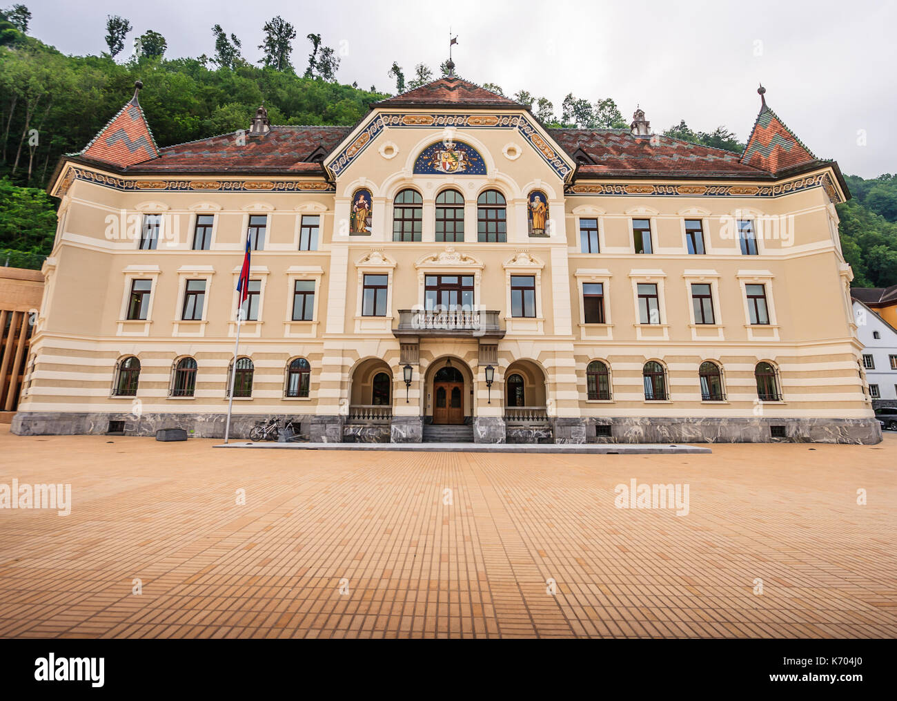 Parliament building in Vaduz, Liechtenstein, Europe. Stock Photo