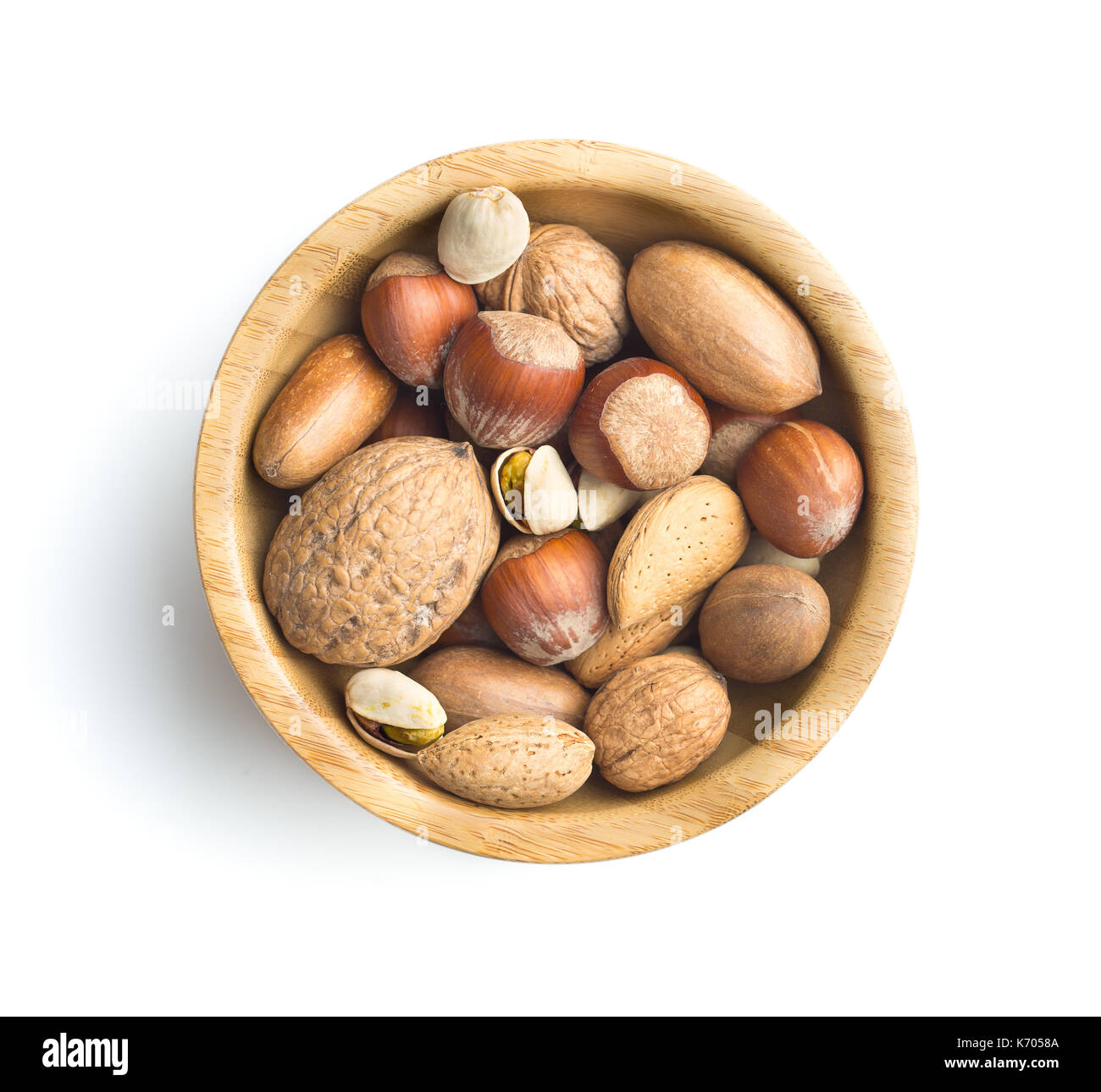 Different types of nuts in the nutshell  Hazelnuts, walnuts