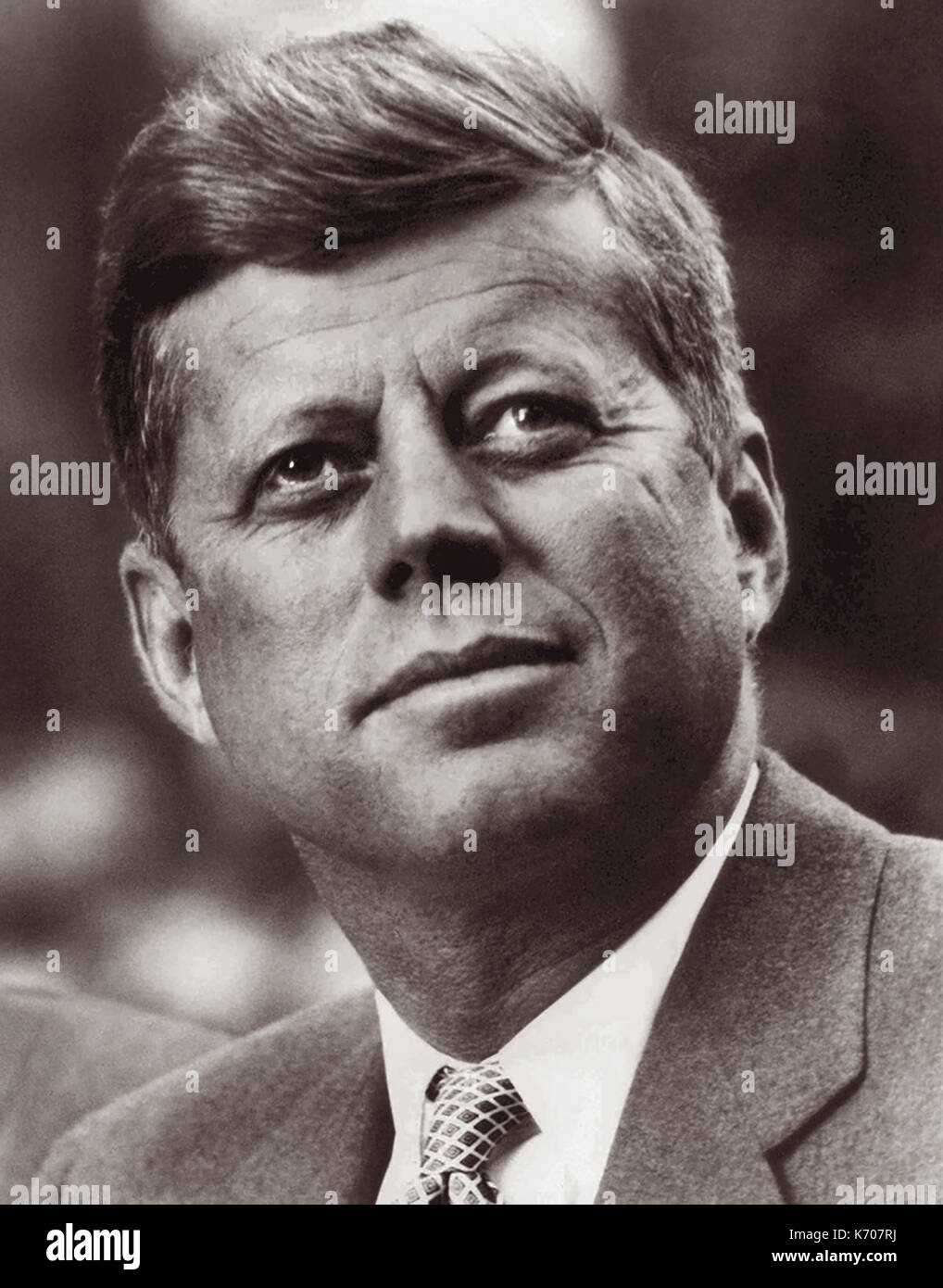 John F. Kennedy, commonly referred to as JFK, served as the 35th President of the United States from January 1961 until his assassination on November 22, 1963.  (Photo: September 6, 1960) - Stock Image