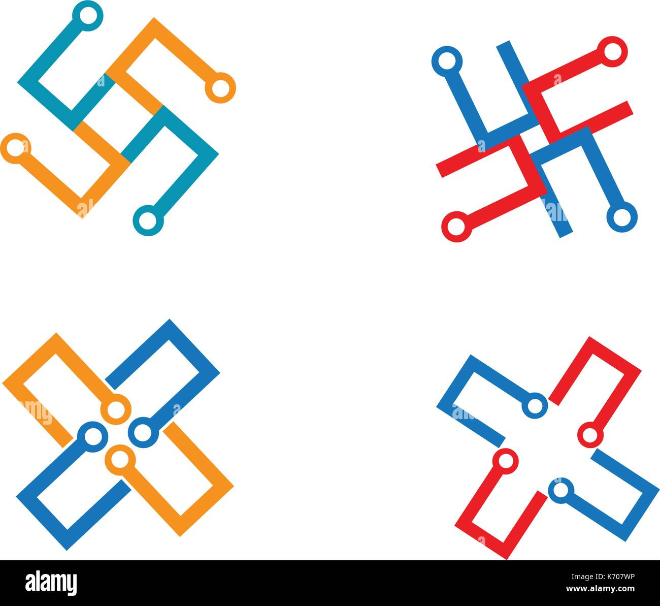 Wiring Stock Vector Images Alamy Schematic Icons Cable Wires Logo Template Icon