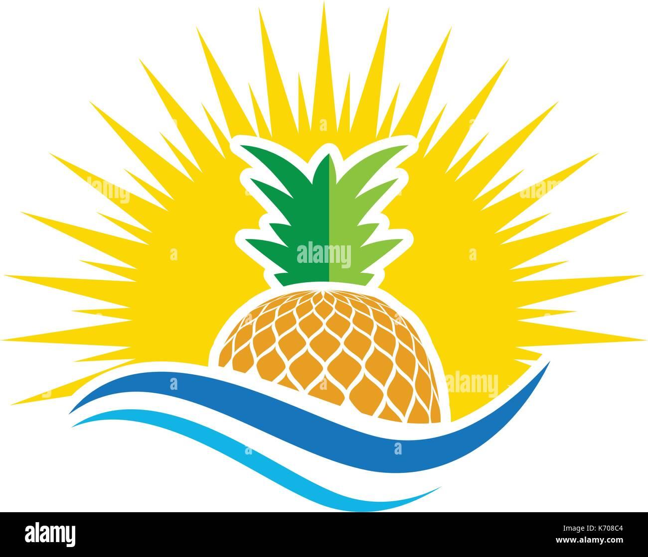 pineapple Logo Template vector icon illustration design ...