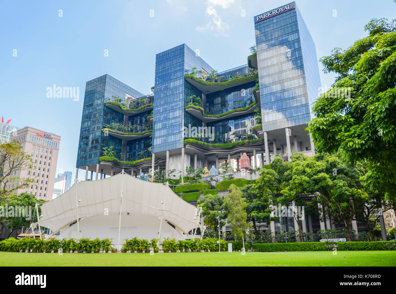 Speakers` Corner in Singapore, the area where open-air public speaking, debate and discussion are allowed. Stock Photo