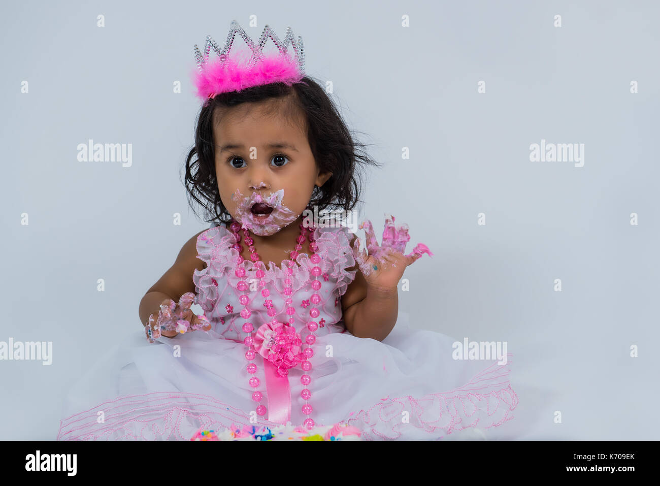 First Birthday Cake Smash Stock Photos First Birthday Cake Smash