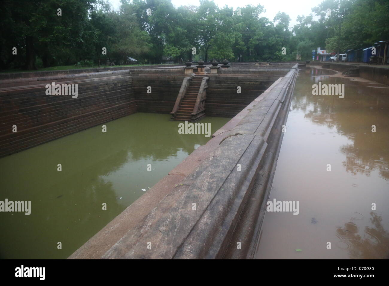 Anuradhapura, Twin Ponds, Sri Lanka, Asia Stock Photo