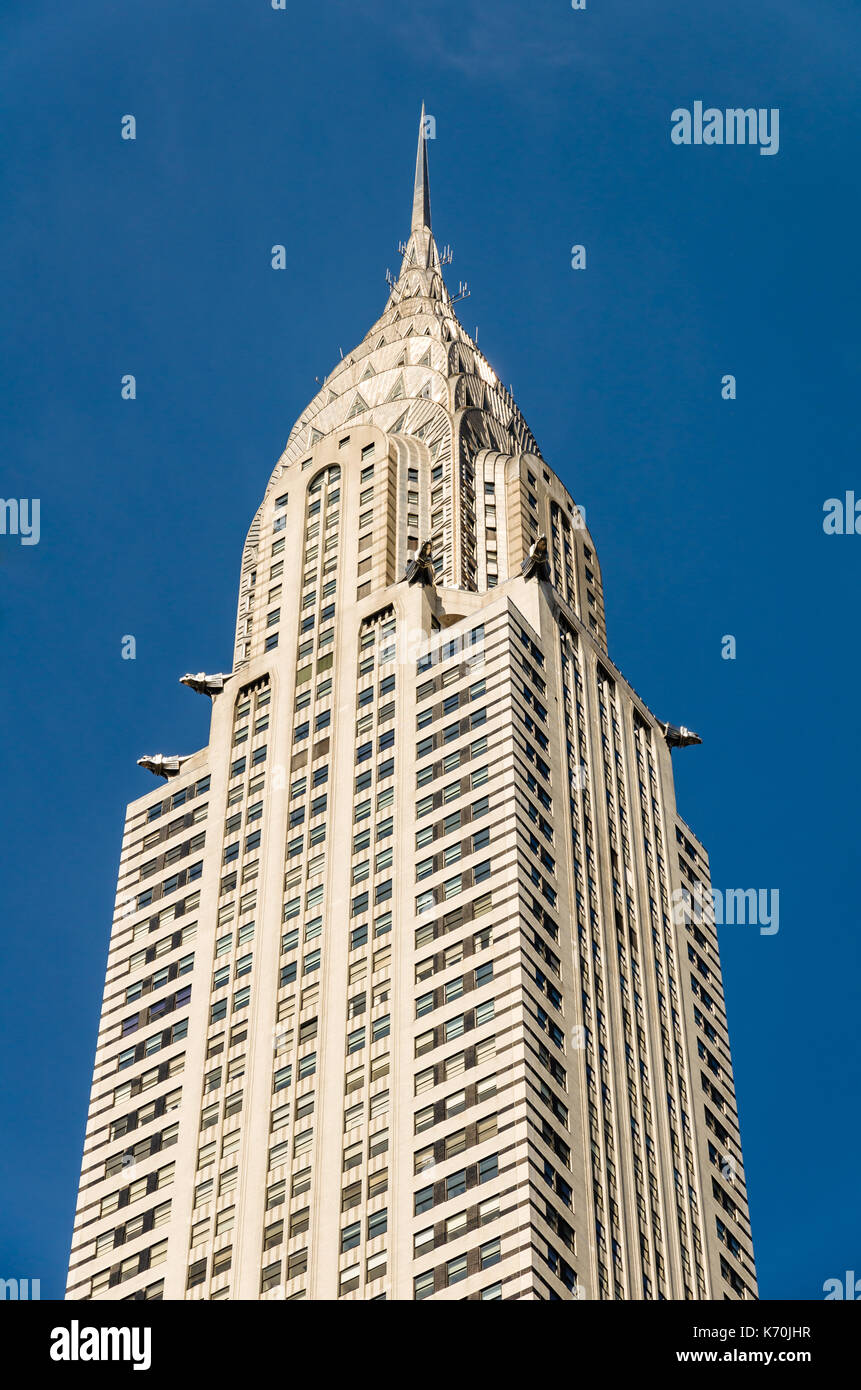 New York, USA - June 7, 2014: Top of the Chrysler Building in Midtown Manhattan, New York City, USA. - Stock Image