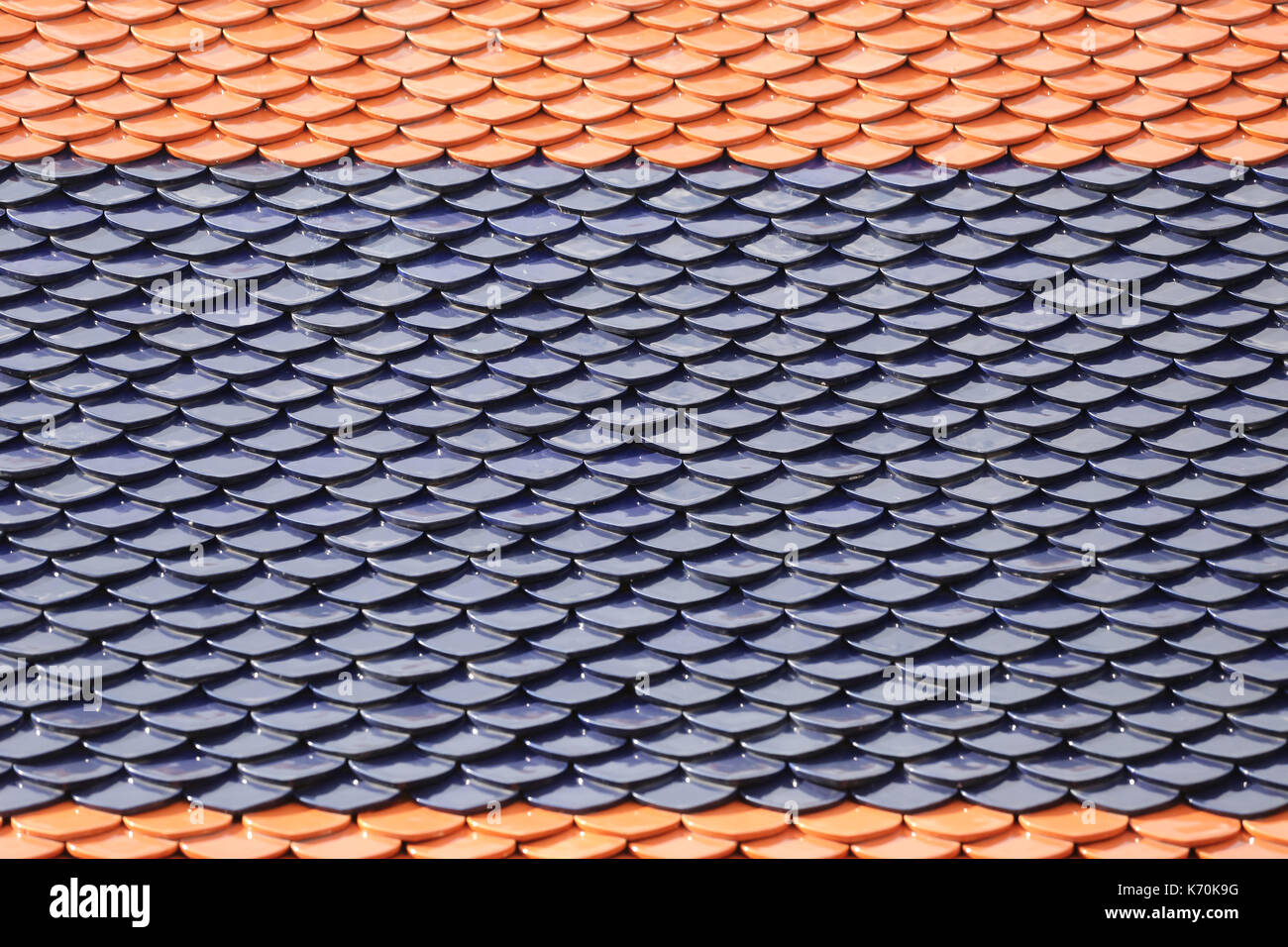 Roof Of The Thai Temple For The Design Background Stock Photo Alamy