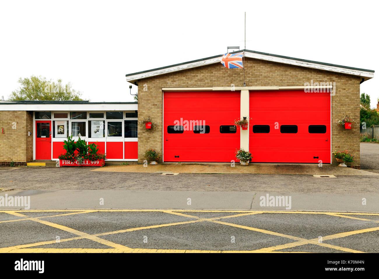 Norfolk Fire Service, Hunstanton Fire Brigade, Fire Station, England, UK - Stock Image