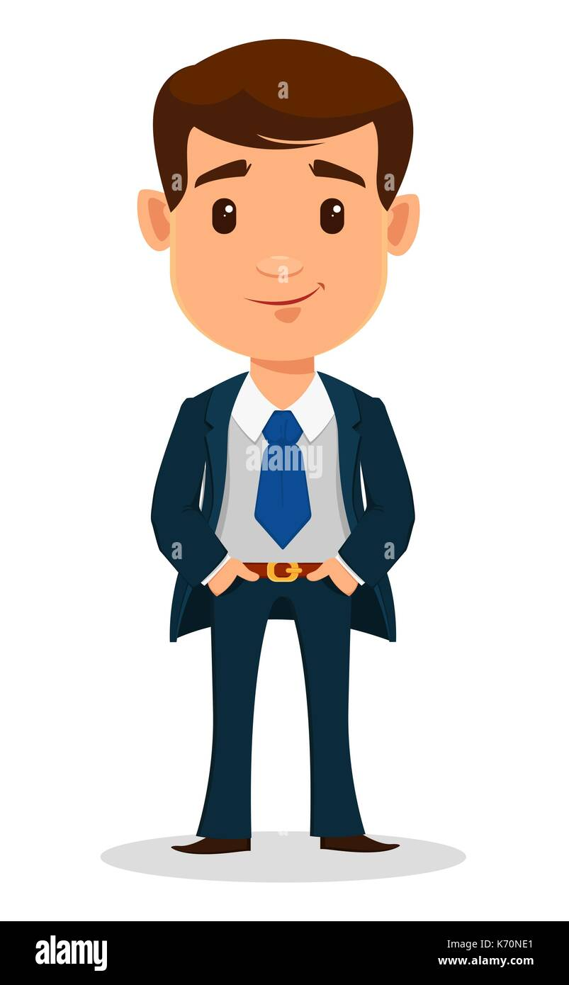 Business Man Cartoon Character In Smart Clothes Office Style Young Stock Vector Image Art Alamy