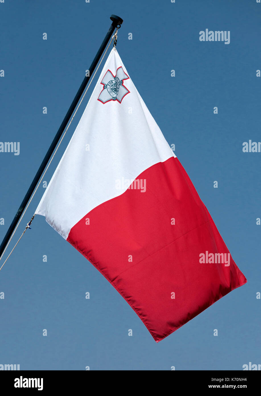 The flag of Malta. - Stock Image