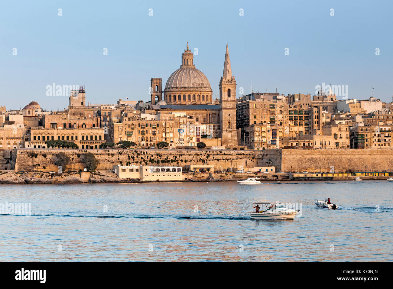 View of the old town of Valletta, the capital of Malta. - Stock Image