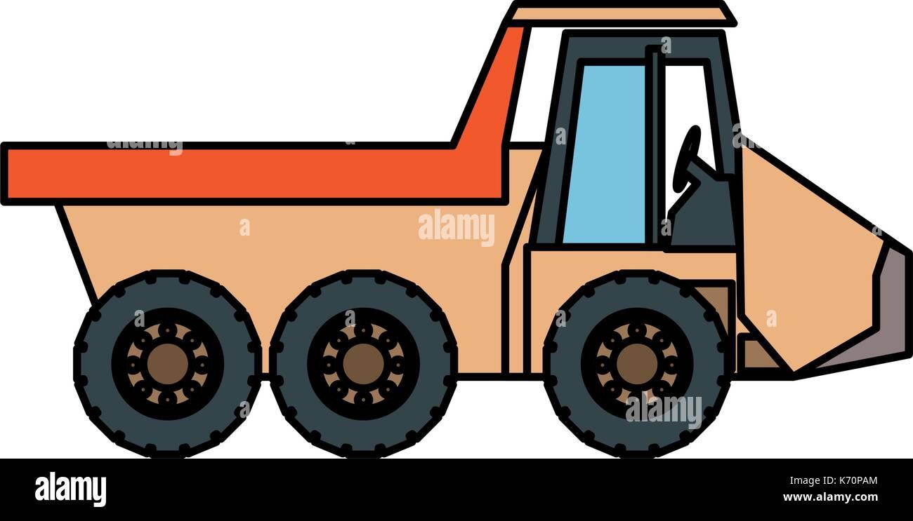 dump truck  vector illustration - Stock Vector