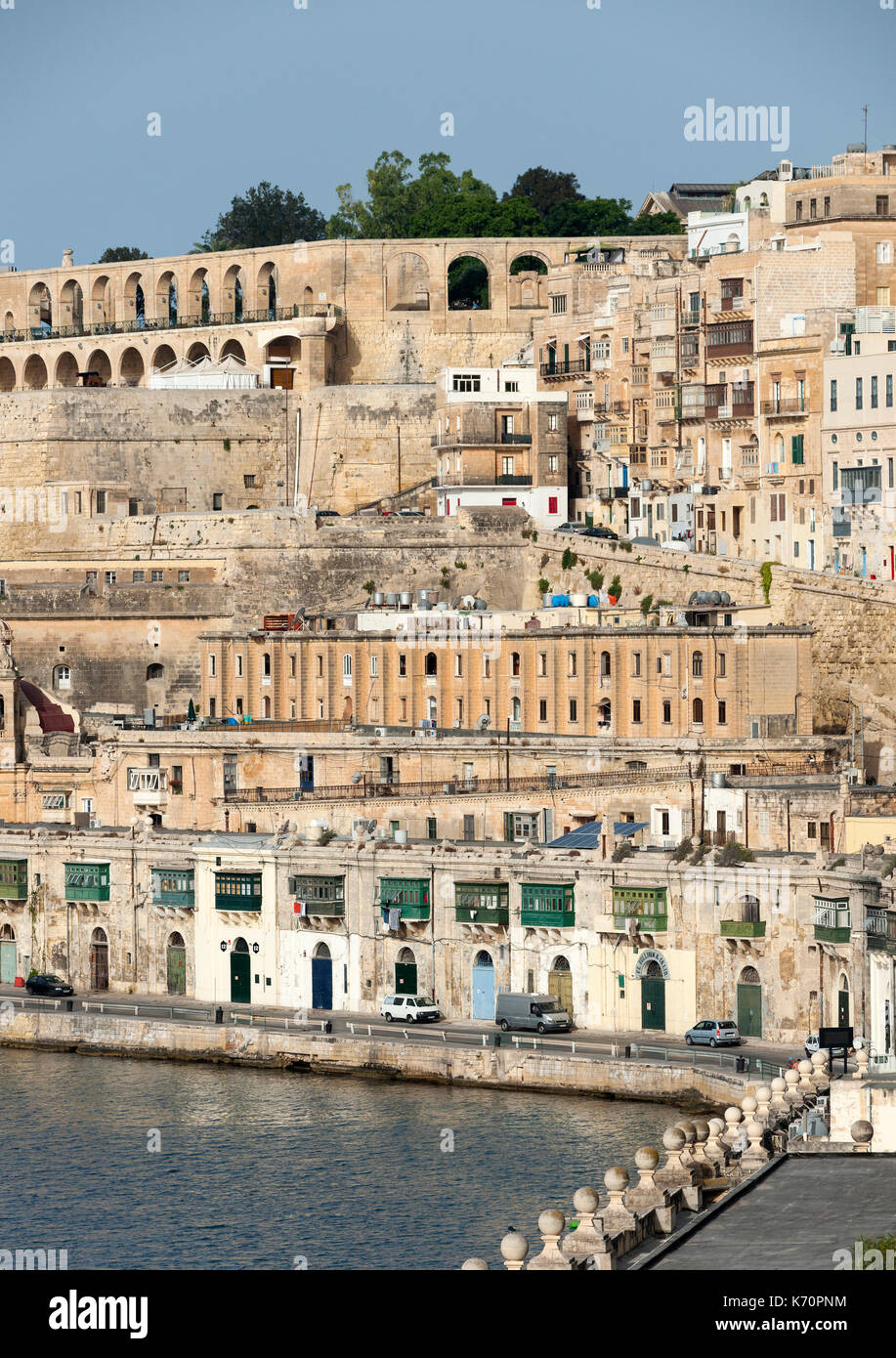 The old town of Valletta, the capital of Malta. - Stock Image
