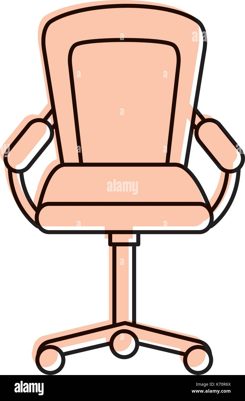 furniture armchair office wheel equipment - Stock Image