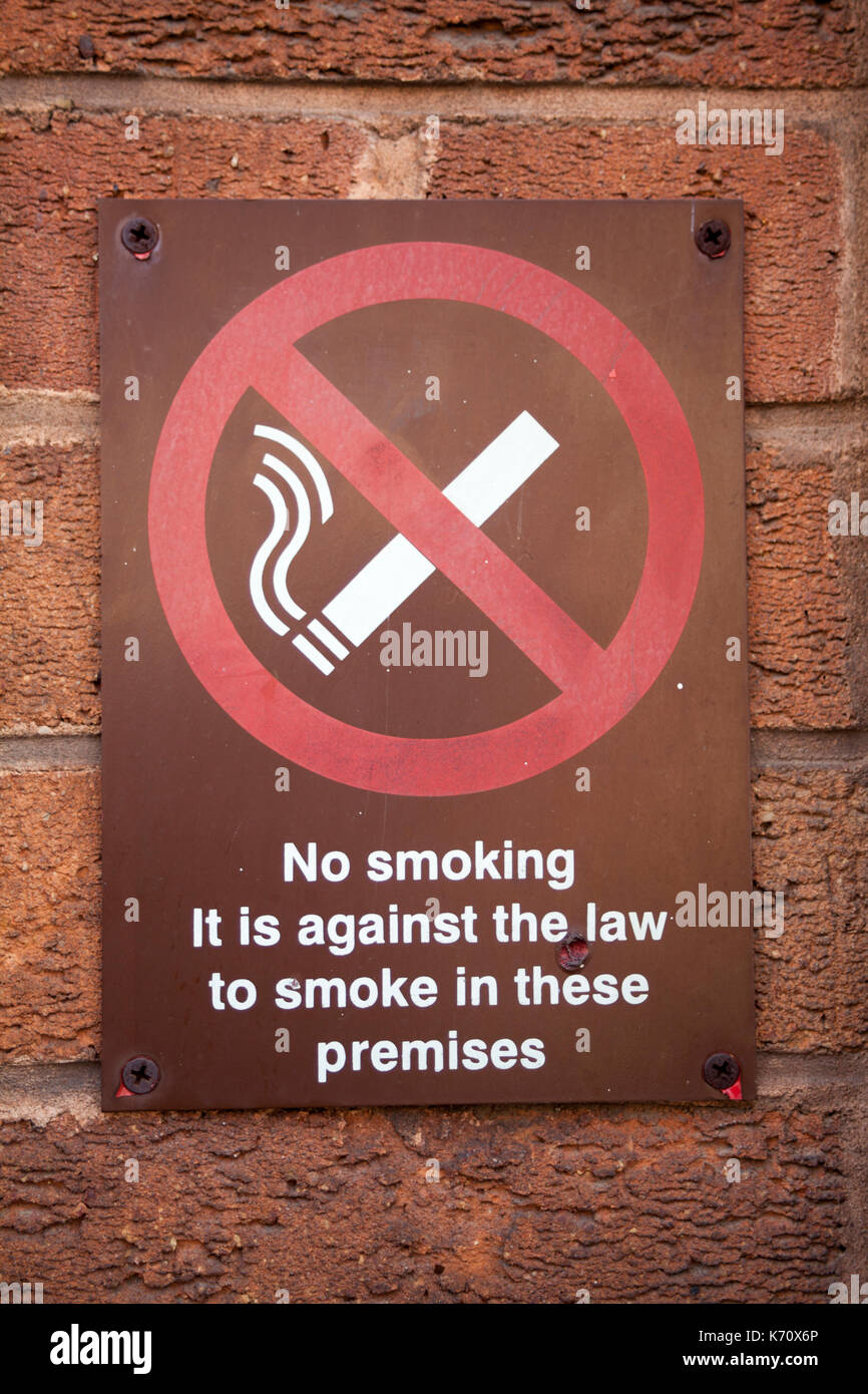 Sign no smoking on the street. Stock Photo